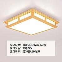 GQLB 24W giapponese lampada in legno soggiorno luce da soffitto moderno minimalista camere da letto (565*120mm), luce luce bianca