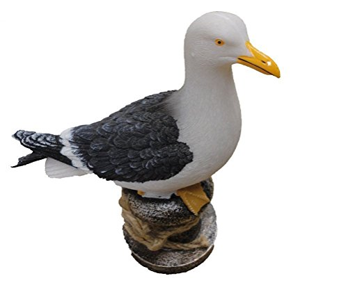 Möwe Ornament (MÖWE AUF EIN PFAHL 15cm hoch Ornament)