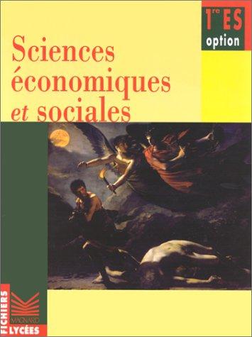 Fichier sciences économiques et sociales option 1re ES