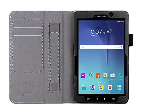 Tab Wifi Samsung 4g Galaxy (Galaxy Tab A 7.0 Hülle, ISIN Samsung Galaxy Tab A 7.0 zoll WIFI SM-T280 und 4G LTE SM-T285 Tablet Handy Schutzhülle Tasche Stand Cover mit Handschlaufe,Stylus Halter und Kartenschlitz (Schwarz))