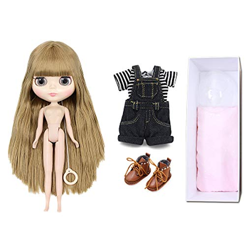 Aegilmc BJD Dolls Blythe Puppet, Fashion 1/6 Sd 30Cm Ball Jointed Body Dolls, Blond Replaceable Big Eyes Hand Reborn Toy Surprise DIY Gift Make Up,blackshorts,7joints