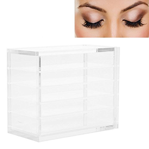 Custodia per ciglia, finta ciglia storage clear lashes storage box makeup organizer ciglia colla pallet supporti 5 strati grafting eye