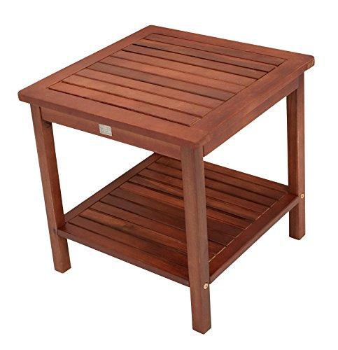 Beistelltisch CABANA aus Eukalyptus Holz, 45x45x45cm, geölt