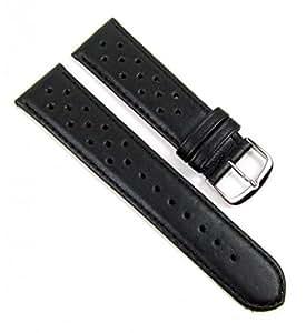 Birkenstock Rallye Ersatzband Uhrenarmband Kalbsleder schwarz 20628S, Stegbreite:22mm