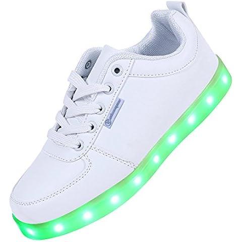 Angin-Tech Serie de Adultos Zapatillas LED USB de Carga de 7 Colores de Luz Zapatillas con Luces del Zapato por la Fiesta de Baile de Navidad de San Valentín con el CE