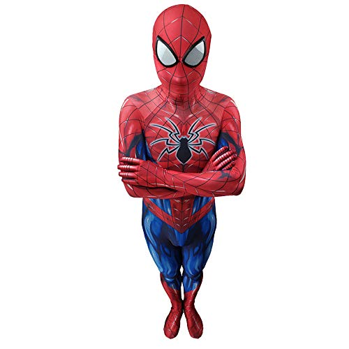QQWE Spider-Man Cosplay Kostüm Marvel Spiderman Kostüm Halloween Weihnachten Film Requisiten Themed Party Body Jumpsuits,Adult-XL