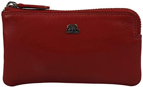 Brown Bear Schlüsseletui Damen Leder rot Golf 1019 red (Schlüsselanhänger Leder Red)