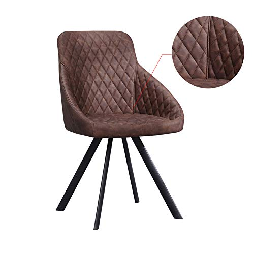 TUKAILAI 2pcs Grey Faux Leather Chairs Set Luxurious Reception Furniture Padded Seat Dining Chairs Innovative Office Chair Tub Chairs Restaurant Hotel Meeting Room Chairs
