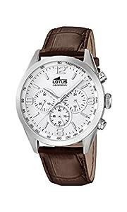 Lotus 18155/1 - Reloj de pulsera hombre, Cuero, color Marrón de Lotus