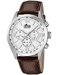 Lotus 18155/1 - Reloj de pulsera hombre, Cuero, color Marrón