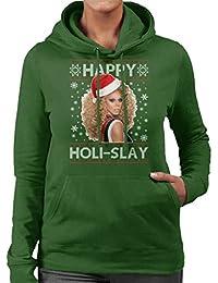 8890e43406d0 Coto7 Happy Holi Slay Rupaul Christmas Knit Women s Hooded Sweatshirt