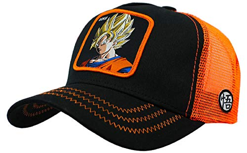 Collabs Gorra Dragon Ball Z Goku Trucker Negro Talla