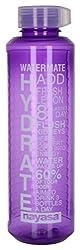 Nayasa Plastic Water Bottle, 1 Liters 1 Pieces, Purple