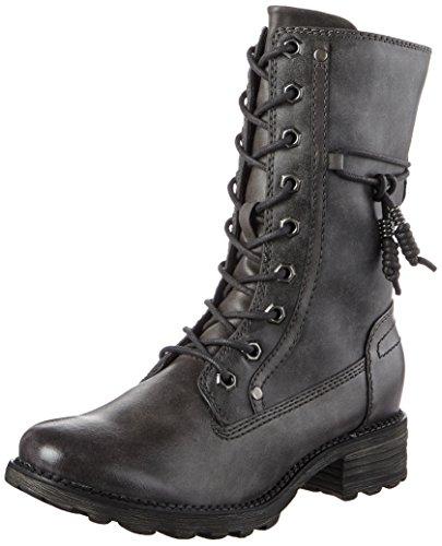Tamaris Damen 26217 Combat Boots, Grau (Graphite), 36 EU