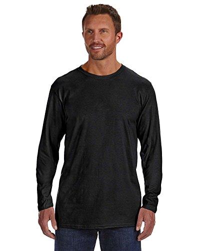 Hanes Mens Nano-T Long Sleeve T-Shirt Black