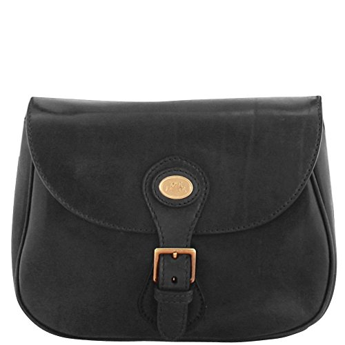 The Bridge Essentials Donna Sac bandoulière cuir 29 cm nero-goldfarben