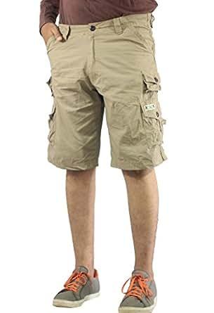 AERO CRAFT Men's Cotton Short (Light Khaki, 32)
