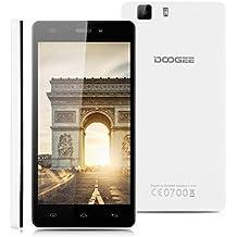 "Doogee X5 Pro - Smartphone Libre 4G Android 5.1 (Quad Core, 5.0"" IPS 1280*720 HD, 2GB RAM, 16GB ROM, 5.0MP Cámara, Dual SIM, GPS, OTG) Celular (Blanco)"