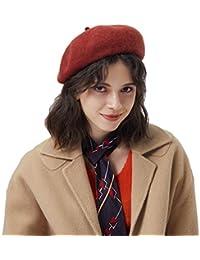 Baijiaye Boina Francés de Mujer Invierno Vasco Boinas de Lana Gorro Beret  Beanie Cálido Sombrero de de022a7aa2d