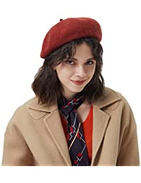 Baijiaye Boina Francés de Mujer Invierno Vasco Boinas de Lana Gorro Beret  Beanie Cálido Sombrero de 1b15cef3fa0