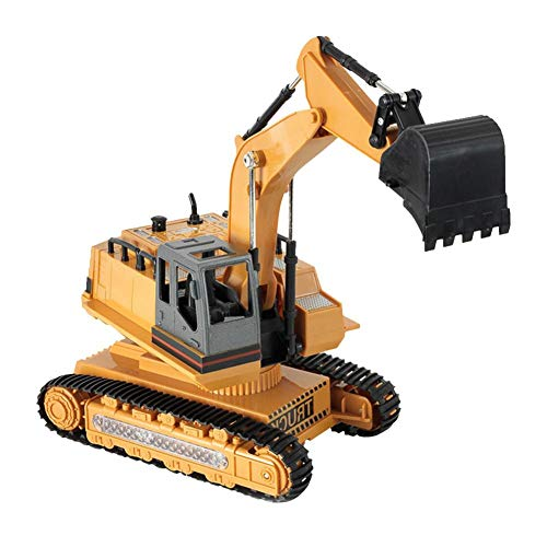 Ferngesteuerter Bagger Modell 8-Kanal mit Fernbedienung 2,4G Elektrisches Wiederaufladbares Baufahrzeug Spielzeug für Kinder ab 3 Jahre