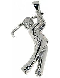 Derby Anhänger Golfspieler Sterling-Silber 925 - 23186