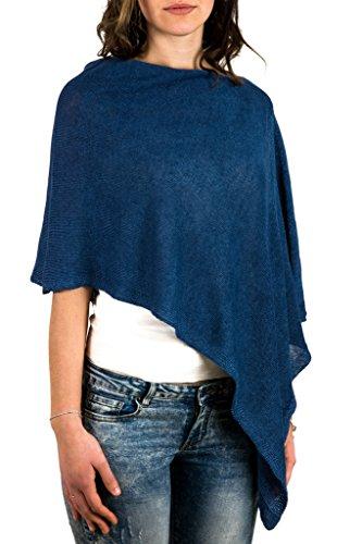 Cecchi e Cecchi ANIA coprispalla in puro lino Blu