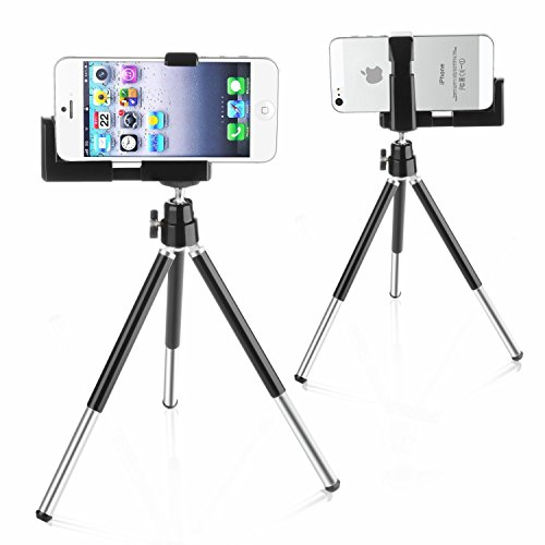 SODIAL(TM) Mini Tripode Ajustable + Soporte de Camara para iPhone y Otros Telefonos Moviles