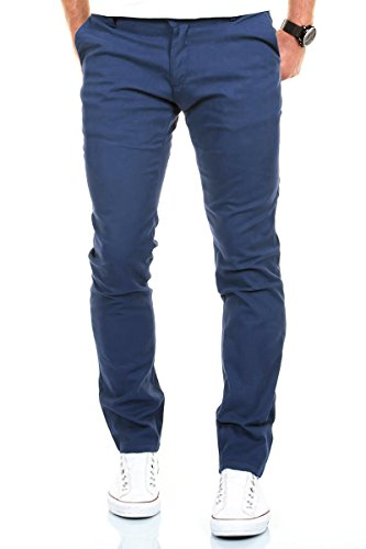 Merish Chino Stretch Slim-Fit Herren High Quality Hose Neu Stoffhose Jeans 168 Hellblau 33-30
