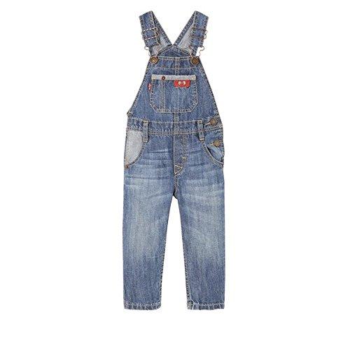 Levi's Kids Baby-Jungen Latzhose NL20004, Blau (Denim 46), 80 (Herstellergröße: 18M)