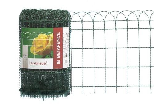 Zaungeflecht Luxursus, grün - RAL 6073, 650 mm Höhe, 25 m Rolle, Drahtstärke: 2,4 / 3,0 mm, Maschenweite: 150 x 90 mm
