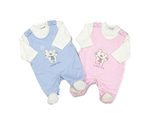 CUDDLE TIME per bambina, motivo: orsetto, colore: rosa, 2 pezzi,