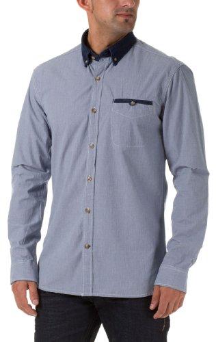 Selected Homme Herren Langarm Hemden Damian shirt ls s C Off white/blue  check