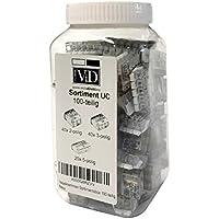 ViD - Surtido 100 unidades palanca Pinzas 0,2-4 mm² variadas tipo UC - 02, 03, 05 en caja de plástico