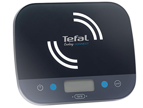 Tefal BC9200S5 Balance de Cuisine Connectée Cooking Connect Application 300 recettes Graduation 10kg/1g Conversion Liquides Tare