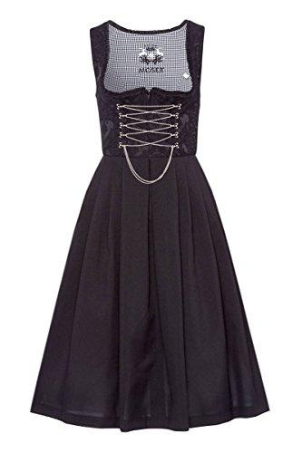 MOSER® Damen Dirndl lang 80er schwarz Regina 004181, Größe 46