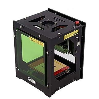 Qiilu Laser Graviermaschine 1500mw Laser Gravur USB Drucker Lasergravierer mit Augenschutz Magnetfolie für Win XP / 7/8 /10 / ios 9.0 / Android 4.0 und höher