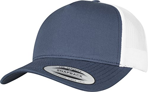 Flexfit 5-Panel Retro Trucker 2-Tone Cap Kape, Nvy/Wht, one size