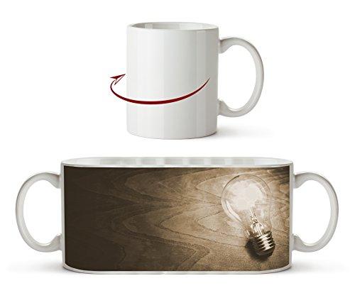 leuchtende Glühbirne Effekt: Sepia als Motivetasse 300ml, aus Keramik weiß, wunderbar als...