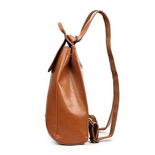 Y&F Schultertaschen Rucksack Handtasche Rucksack Schulranzen Leder 28 * 35 * 13 Cm Yellow