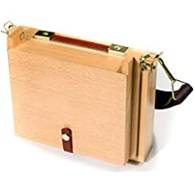 The Society for All Artists - Caja de madera con caballete, paleta y compartimentos para las pinturas