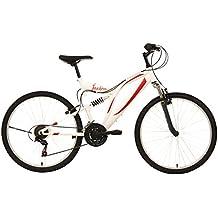 """F.lli Schiano Mountain Bike Freedom Bicicletta Biammortizzata, telaio 26"""", Bianco/Rosso"""