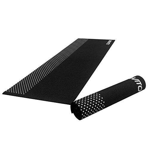 Viavito Leviato Tapis de Yoga 6mm avec Sangle de Transport, Color- Black