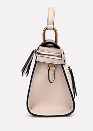 Fabelhaft Koreanische Art-beiläufige Schulter-Beutel-Art- Und Weisestickerei-Handtasche WhiteWithBlack