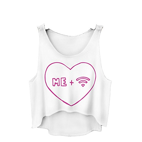 Filles veste pour femme Haut T-shirt d'été sans manches pour femme Casual pour Femme Imprimé Coussin UK 6/8/10 Me Wifi