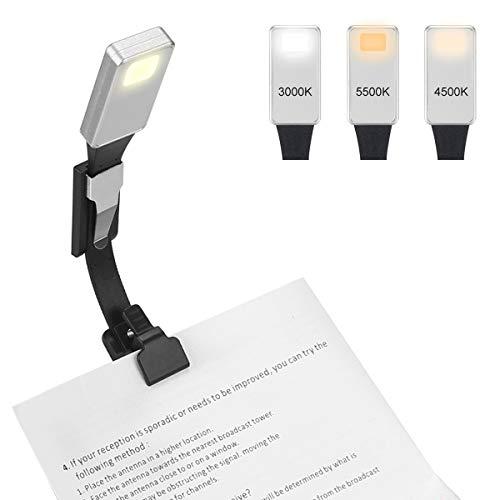 Aibesser Leselampe,LED Buchlampe mit Clip, Klemmleuchten Wiederaufladbare für Kindle/eBook Reader/Buch/ipad