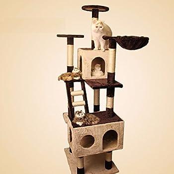 Chat de sisal gros fournitures pour animaux de compagnie de jouets chat châssis échelle d?escalade ,Beige + marron
