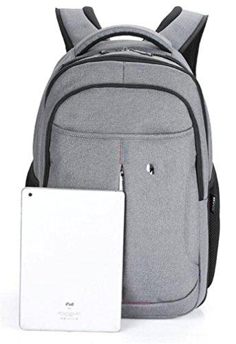 YANFEI Portable Laptop Rucksack Mann und Frau Student Taschen Reisen Rucksäcke Business Lightweight High Capacity Nylon Multipurpose , light grey light grey