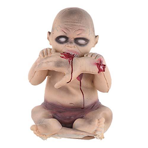 Baoblaze 1 Stück Schreckliche Babypuppe Geisterpuppe Halloween Requisiten Dekoration - # 3