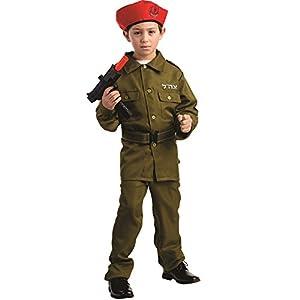 Dress up America - 782-S - Soldado de Las FDI Fuerzas de Defensa de Israel - 4-6 años - Altura 107 cm - Verde
